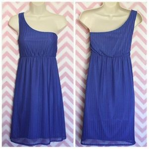 Judith March Blue One Shoulder Dress Size M